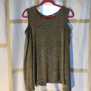 Calvin Klein shoulder-less long sleeve shirt